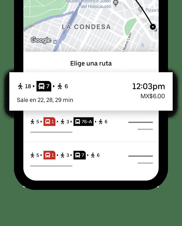 UBER Transit en CDMX 3 Uber mejora experiencia con ecosistema integrado