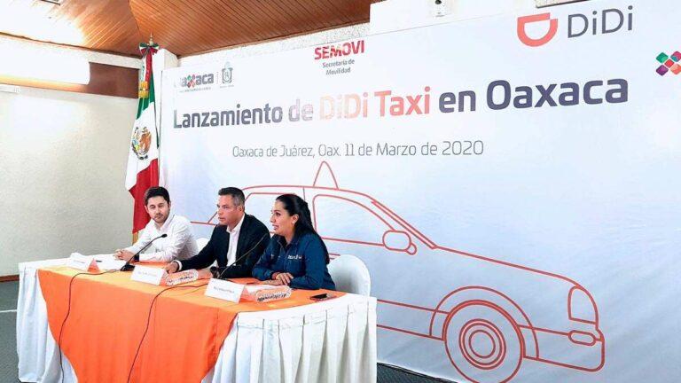 Oaxaca consigue trato entre taxistas y Didi para digitalizar el sector de transporte público.