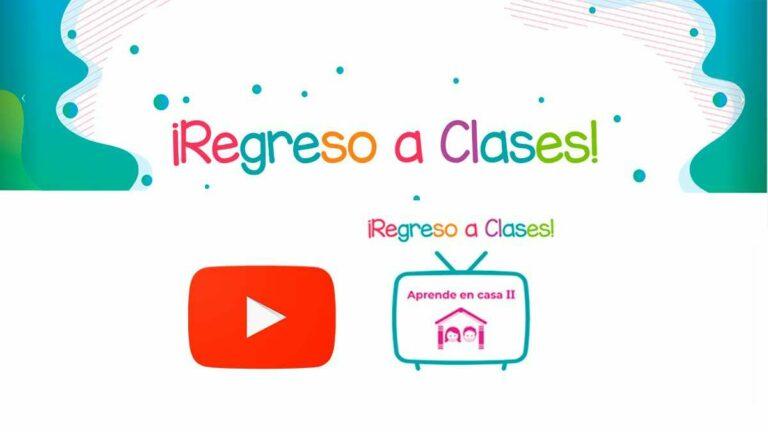 Aprende en casa II en Internet y YouTube | Horarios de TV