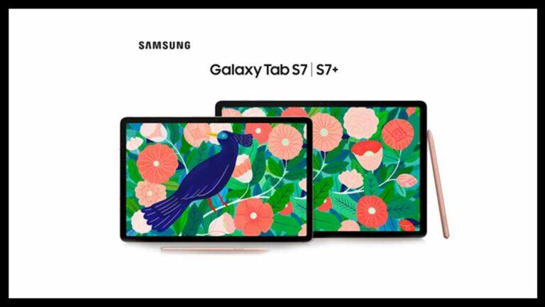 Samsung Galaxy Tab S7 y S7+ Características y precio