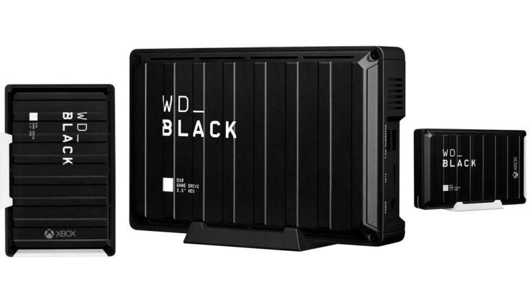 Western Digital presentó HDD externas  de 8 TB  y 12 TB para gamers