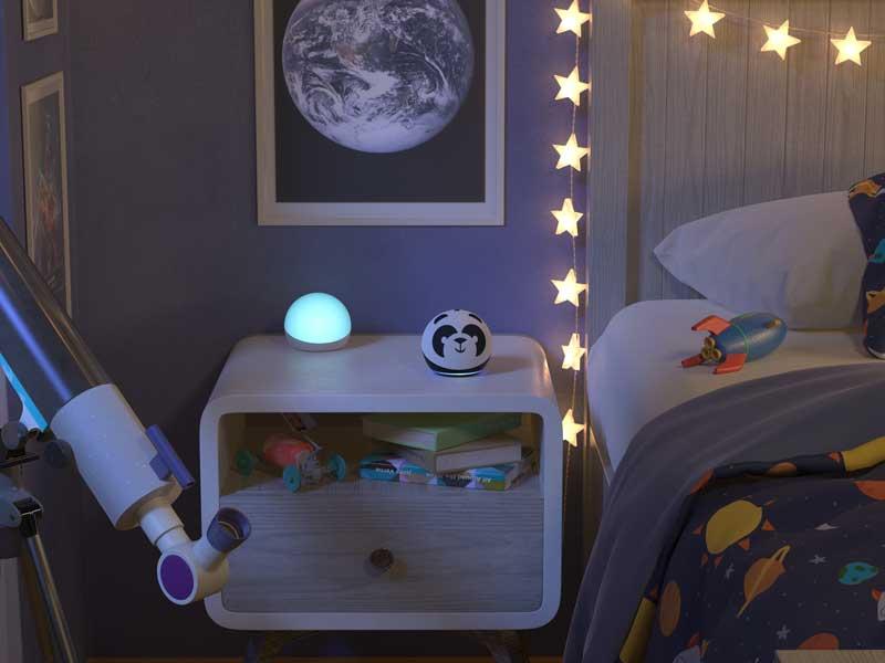 Amazon Echo dot Kids edition, habitación de niños