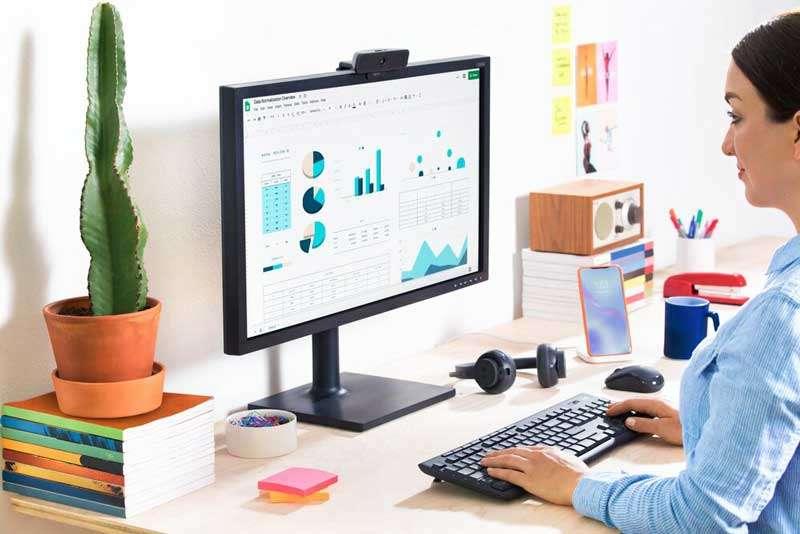 Logitech MK295 Silent Wireles, ideal para el home office, ya que es 90% libre de ruido