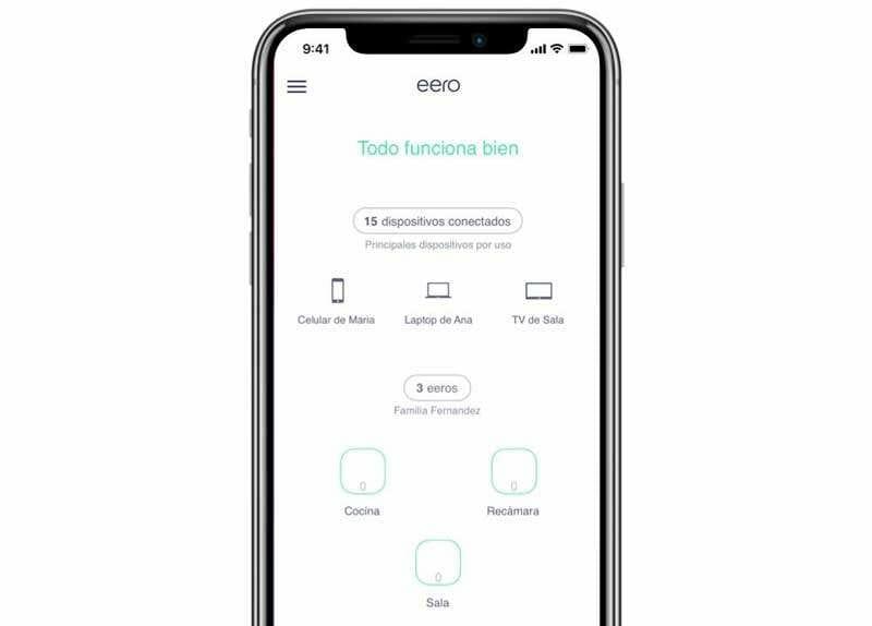 eero fácil de configurar desde el smartphone, sólo 10 minutos