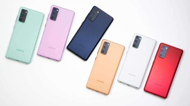 Diferentes colores del Galaxy S20 FE
