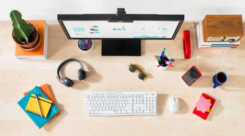 Logitech MK295 blanco Home office en la nueva normalidad: 4 recomendaciones para videollamadas