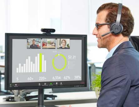 Logitech Zone Wired, audífonos para el trabajo en casa