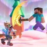 Steve de Minecraft conta Fox en Super Smash Bros Ultimate