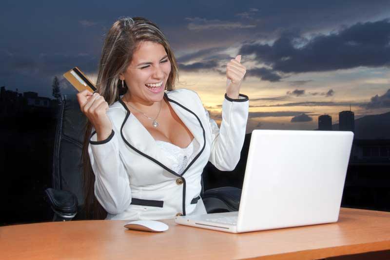 Mujer ganado ofertas de Amazon prime day