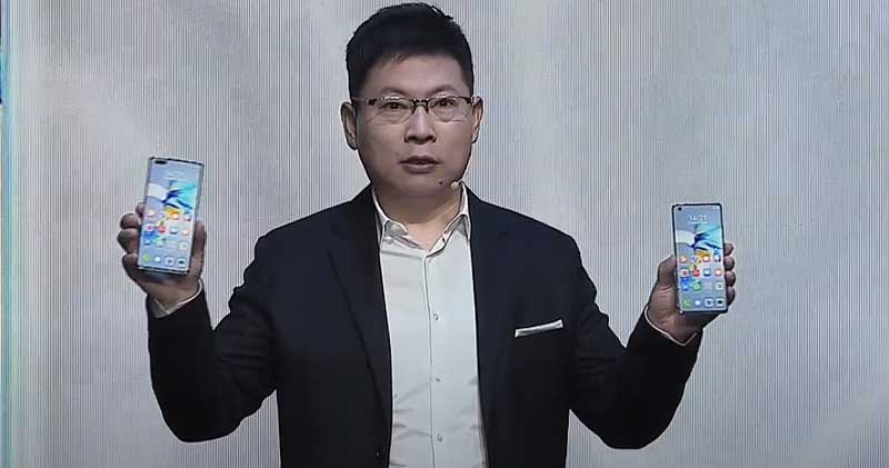 Richard Yu, CEO de Huawei Consumer Business Group, en el lanzamiento de Huawei Mate 40 Series