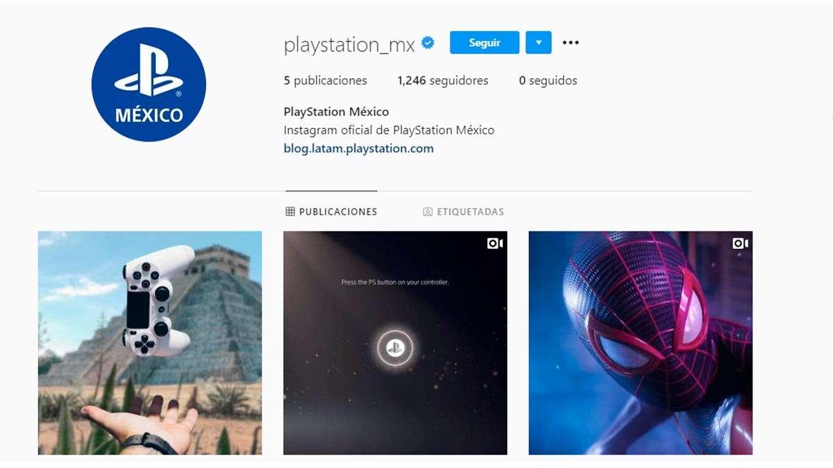 Instagram de PlayStation México