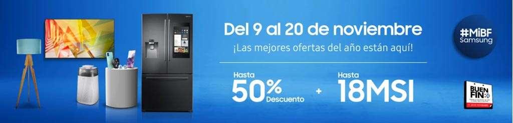 Samsung en el buen fin, hasta 50% de descuento en productos seleccionados