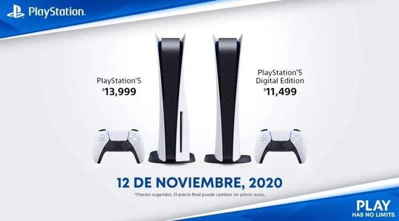 Precio de la PlayStation 5 en México