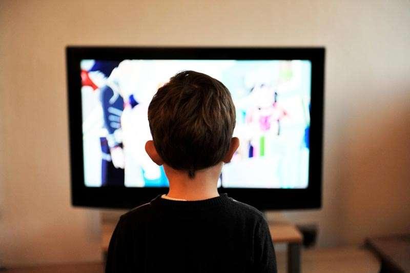 Niño atento a lo que pasa en una pantalla