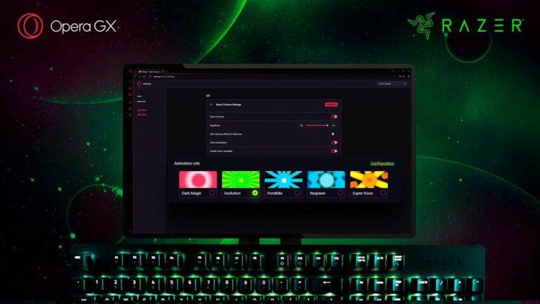 Razer Chroma RGB ahora en navegador Opera GX