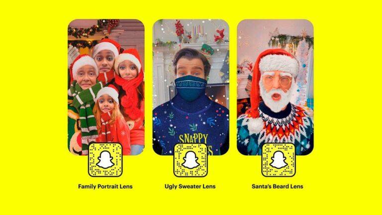 Snapchat lanzará nuevos lentes para festejar la Navidad