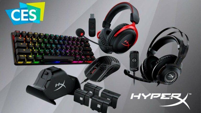 HyperX presentó sus nuevos productos en el CES 2021, llegarán en marzo