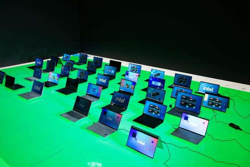 Intel procesadores  laptops CES2021