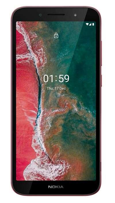 Nokia C1 Plus, color rojo