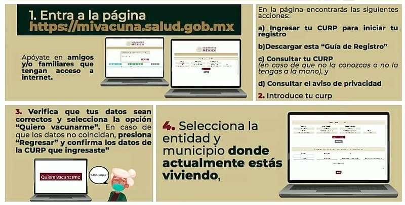 Entrar en la página https://mivacuna.salud.gob.mx/
