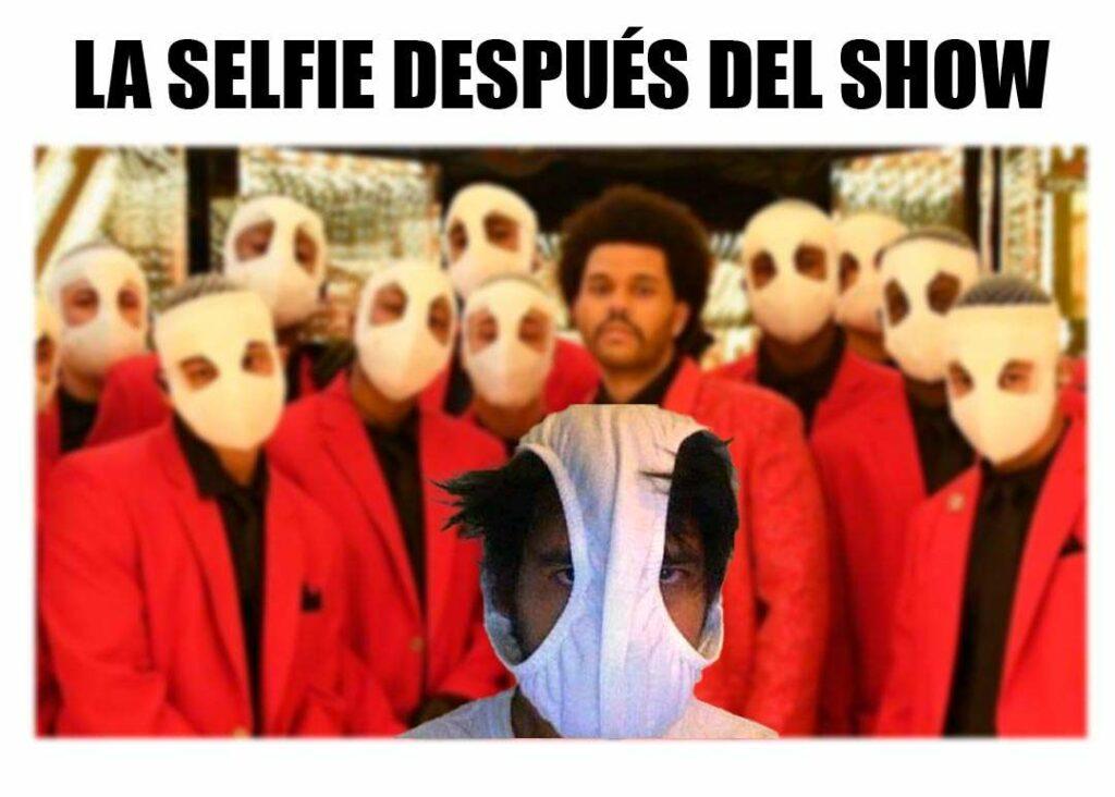 La selfie después del espectáculo de medio tiempo