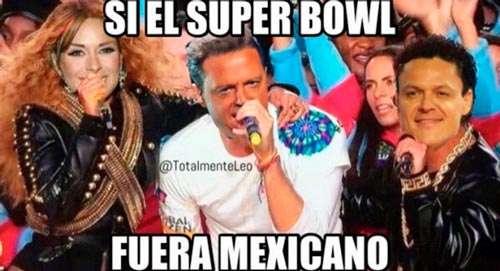 Meme, si el Super Bowl fuera Mexicano