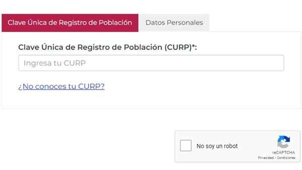 ¿No conoces tu Curp? PC