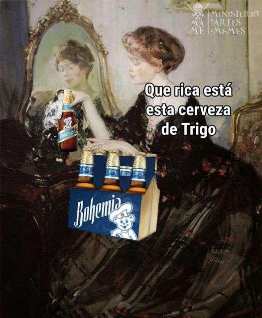 Meme, bimbo cerveza de trigo
