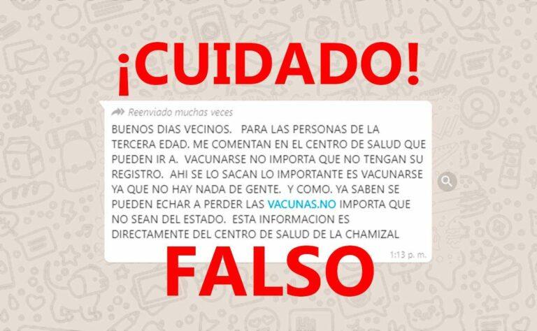 Circulan en redes «Mensajes falsos» sobre vacunación de COVID-19