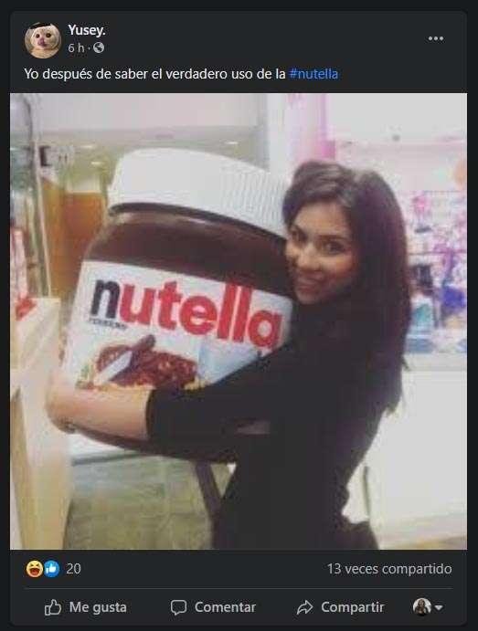 Frasco enorme de Nutella