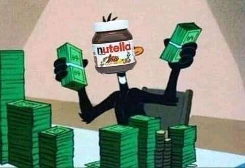 Nutella ganando con sus memes