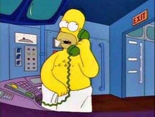 Hable más fuerte que tengo una toalla, Homero Simpson