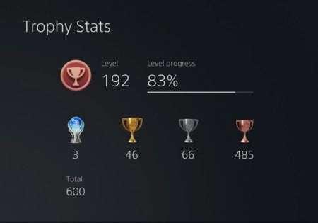 Nuevos estatus trofeos PS5