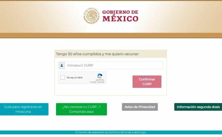 El portal «Mi Vacuna» ya acepta el registro de vacunación COVID-19, para personas entre 50 y 59 años