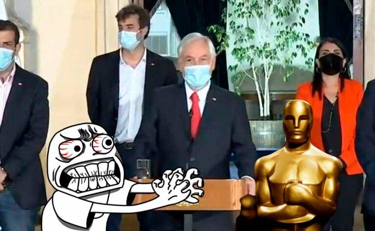Redes arden por anuncio de Piñera durante entrega de Oscars 2021