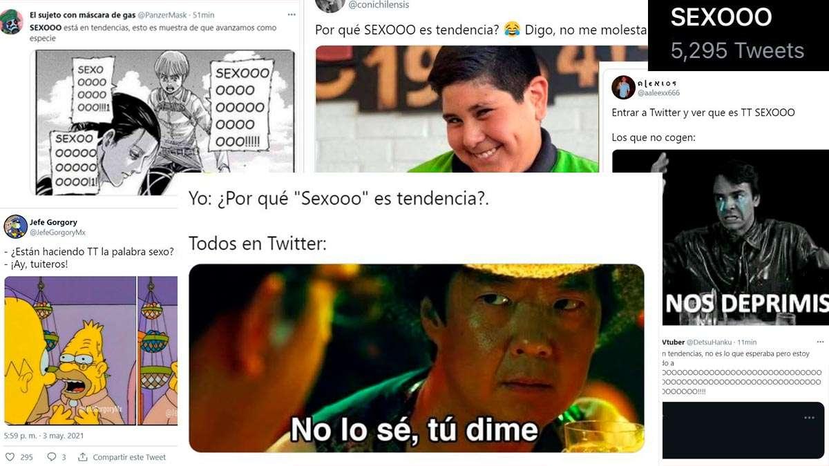 Sexooo es tendencia en Twitter