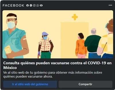 """Página """"Vacuna Covid"""" en Facebook"""