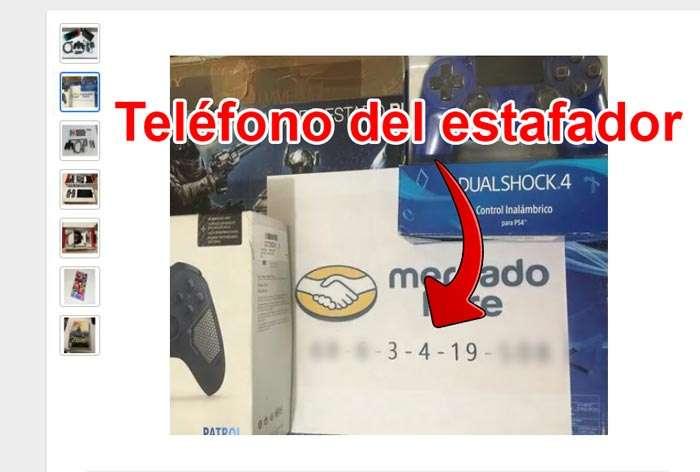 Telefono del estafoador en foto por Mercado Libre | Telefono del estafoador en foto por Mercado Libre