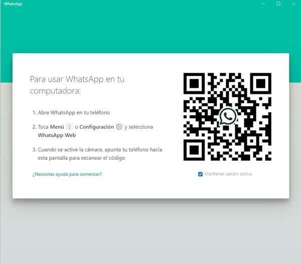 WhatsApp Web, código QR para iniciar sesión