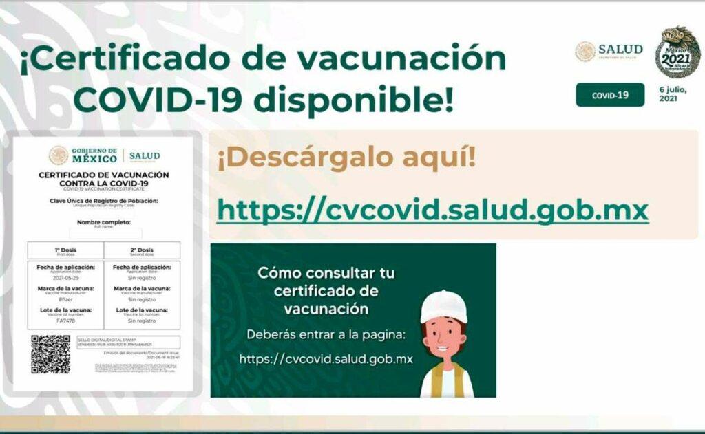 Certificado de vacunación covid-19